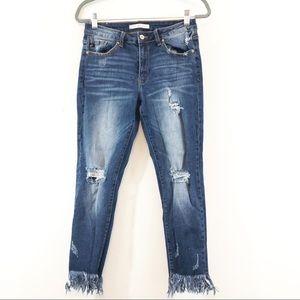KanCan Estilo Frayed Raw Hem Skinny Jeans Sz 29